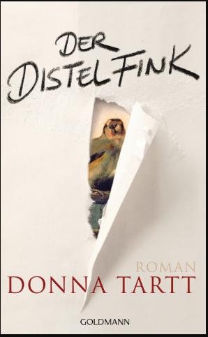 """Das Buchcover - """"Der Distelfink"""" von Donna Tartt"""